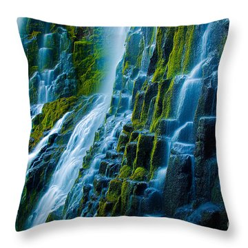 Veiled Wall Throw Pillow by Inge Johnsson