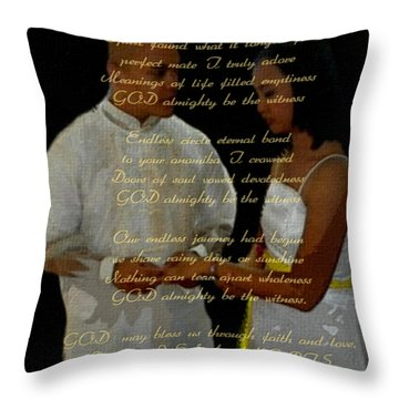 Vein Of Love Poem Throw Pillow