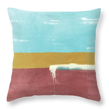 Velvet Horizon- Abstract Landscape Throw Pillow
