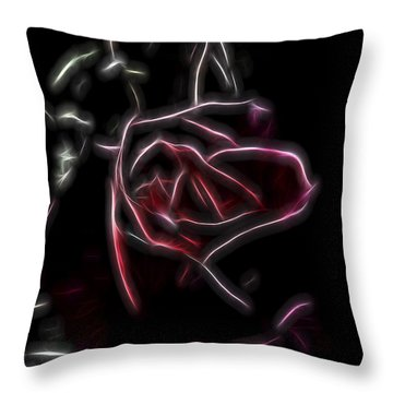 Throw Pillow featuring the digital art Velvet Rose 2 by William Horden