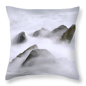 Velvet Surf Throw Pillow by Marty Saccone