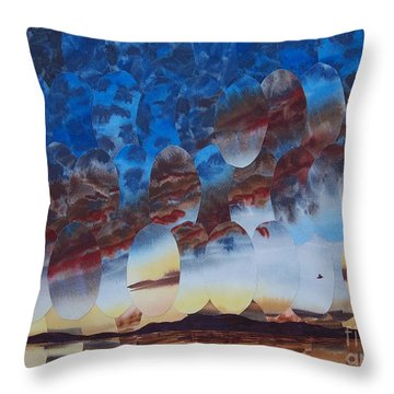 Velvet Virga Throw Pillow by Jeni Bate