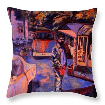 Throw Pillow Vendors : Vendor Painting by Kendall Kessler