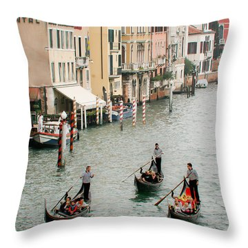 Venice Throw Pillow by Silvia Bruno