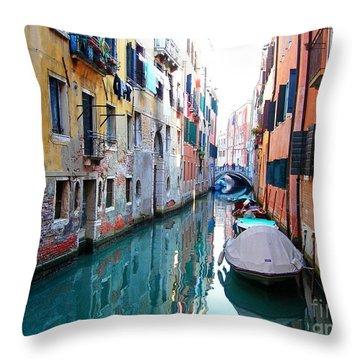 Venetian Calm Throw Pillow