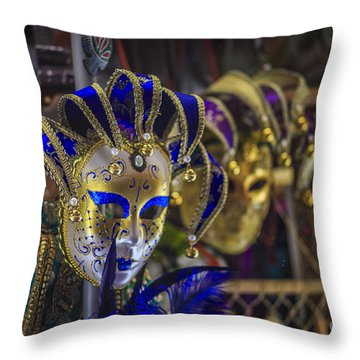 Venetian Carnival Masks Cadiz Spain Throw Pillow