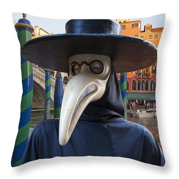 Venetian Face Mask G Throw Pillow by Heiko Koehrer-Wagner