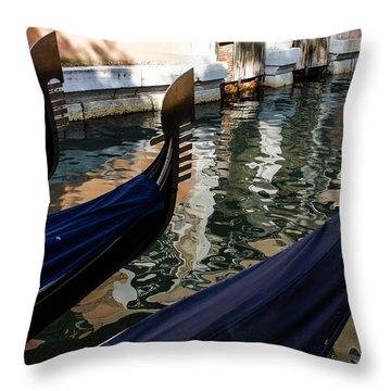 Venetian Gondolas Throw Pillow