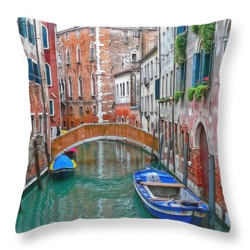 Throw Pillow featuring the photograph Venetian Idyll by Hanny Heim