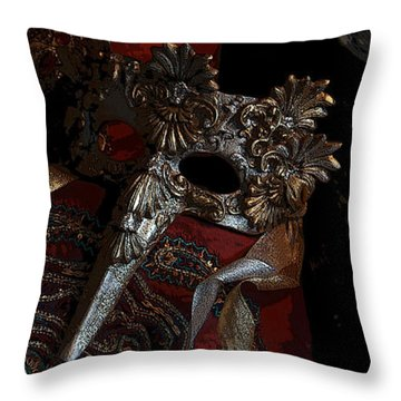 After The Carnival - Venetian Mask Throw Pillow