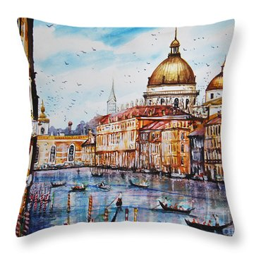Venetian Paradise Throw Pillow