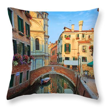 Venetian Paradise Throw Pillow by Inge Johnsson
