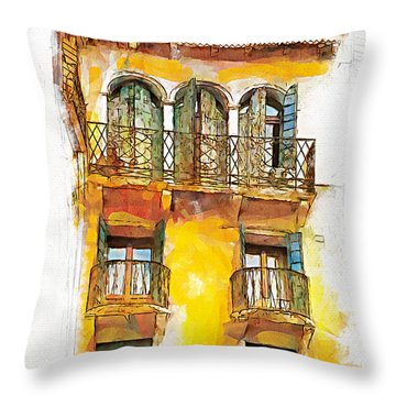 Radiant Abode Throw Pillow by Greg Collins