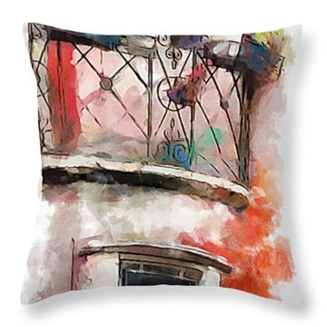 Venetian Windows 4 Throw Pillow by Greg Collins