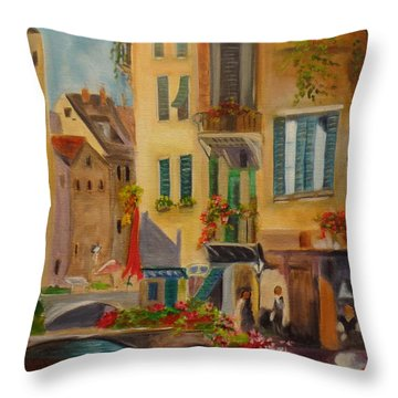 Venic Canal 1 Throw Pillow