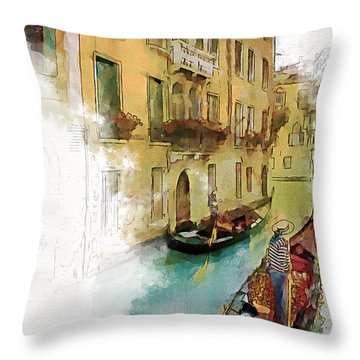 Venice 1 Throw Pillow by Greg Collins