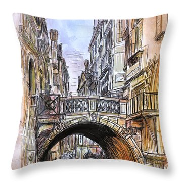 Venice 2 Throw Pillow
