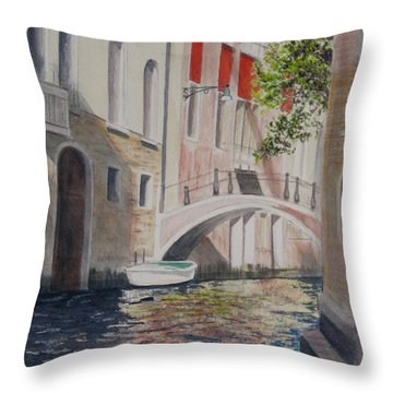 Venice 2000 Throw Pillow by Carol Flagg
