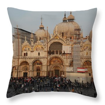 Venice At Sunset Throw Pillow by Caroline Stella