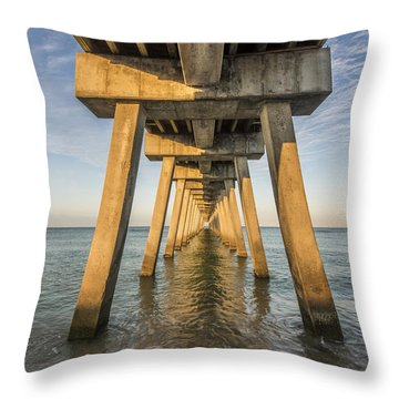 Venice Below The Pier Throw Pillow
