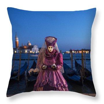 Venice Carnival '15 V Throw Pillow