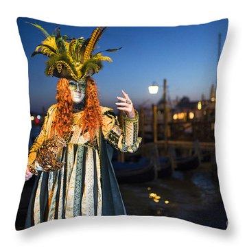 Venice Carnival '15 Vi Throw Pillow