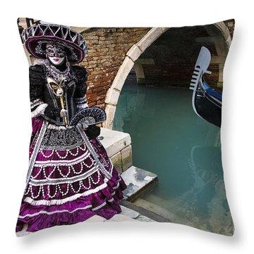Venice Carnival '15 Vii Throw Pillow