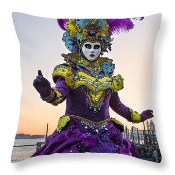 Venice Carnival Iv Throw Pillow