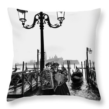 Venice Carnival Throw Pillow