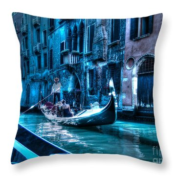 Throw Pillow featuring the photograph Venice Dream by Hanza Turgul
