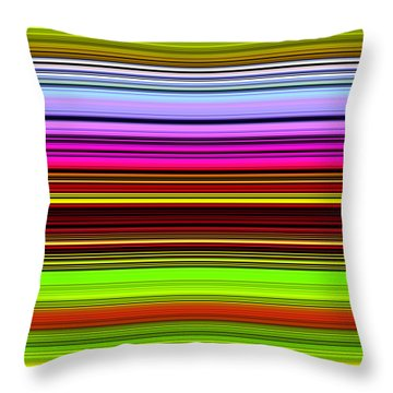 Venice Flower Abstract Throw Pillow