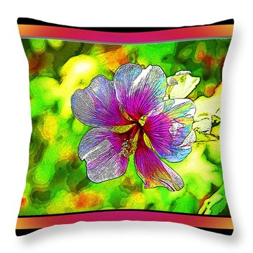 Venice Flower - Framed Throw Pillow