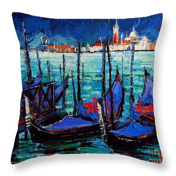 Canal Walk Throw Pillows