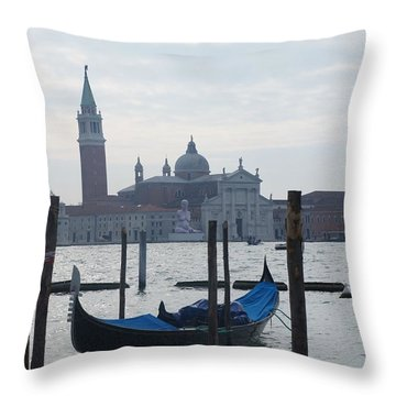 Venice Grand Canal Throw Pillow by Kristine Bogdanovich