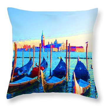 Venice Hues Throw Pillow