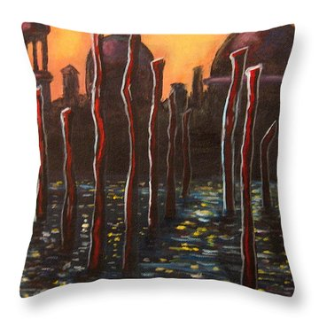 Venice Impressions Throw Pillow