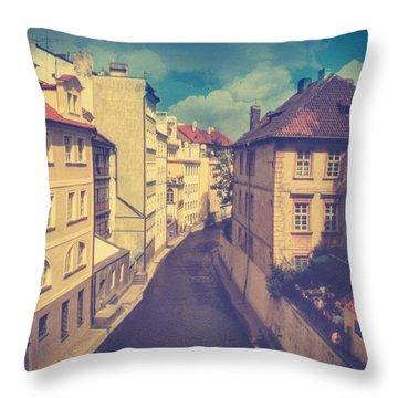 Venice In Prague Throw Pillow by Taylan Apukovska