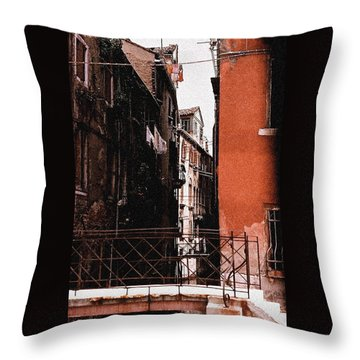 Throw Pillow featuring the photograph A Chapter In Venice by Ira Shander