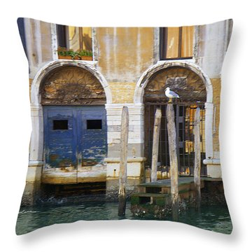 Venice Italy Double Boat Room Throw Pillow
