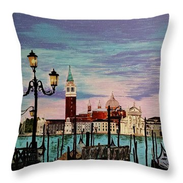 Venice  Italy By Jasna Gopic Throw Pillow by Jasna Gopic