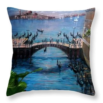 Venice Throw Pillow by Kelly Awad