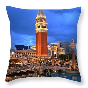 Venice Las Vegas Throw Pillow