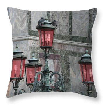 Venice Lights By Day Throw Pillow