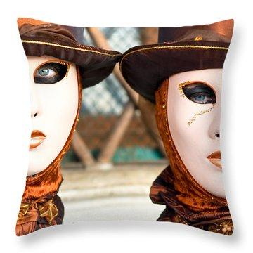 Venice Masks - Carnival. Throw Pillow