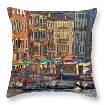 Venice Palazzi At Sundown Throw Pillow