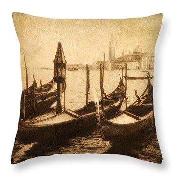 Venice Postcard Throw Pillow by Jessica Jenney