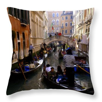 Throw Pillow featuring the digital art Venice by Ron Harpham