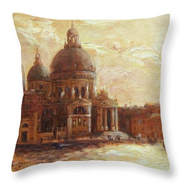 Venice - Santa Maria Della Salute Throw Pillow