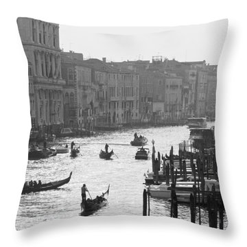 Venice Grand Canal Throw Pillow