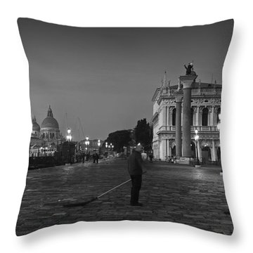 Venice Sweepers Throw Pillow by Marion Galt